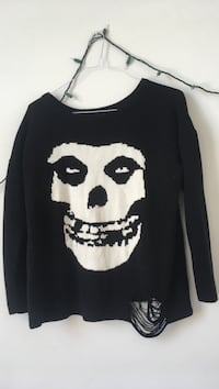 Oversized distressed skull sweater Cambridge, N3H