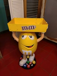 Yellow m & m candy display