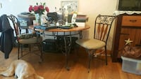 Wood and metal table with two matching chairs Murfreesboro