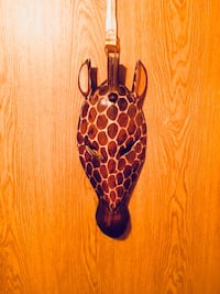Pier 1  Solid Wood Giraffe Head Wall Art Bear, 19701