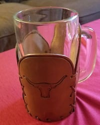 Beer mug with leather koozie