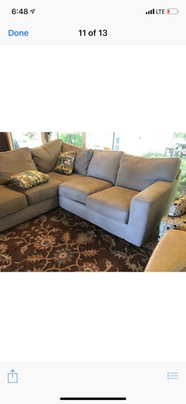 Brand new gray fabric sectional sofas!