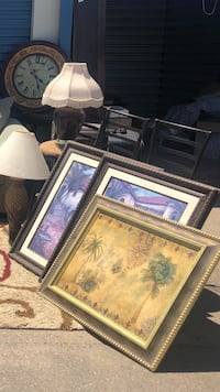 Storage Clearance. King bed, sofas, marble table, lamps, and more...