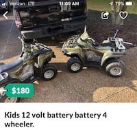 Kids 12 volt battery battery 4 wheeler. Williamsburg, 23185