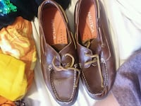 pair of brown leather boat shoes Jacksonville, 28546