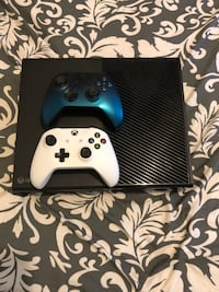 black Xbox One with two white and black controllers LaGrange, 30241