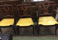 two brown wooden framed yellow padded armchairs Ridley Park, 19078