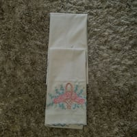 Two vintage pillow cases