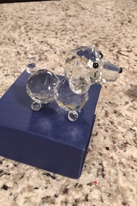 Dog crystal figurine