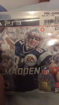 Madden NFL 17 PS4 game case Adamstown, 21710