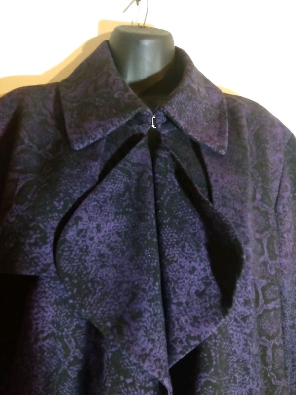 Women's size 16 Blazer purple black Anne Klein 8