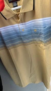 white and blue stripe polo shirt Woodbridge, 22191