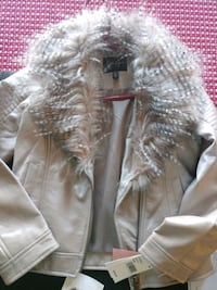 Girl's size 10-12 faux leather and fur jacket