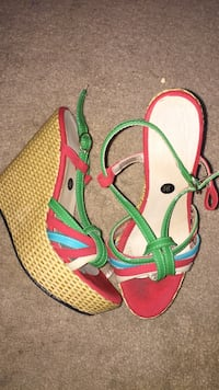 pair of pink-and-green sandals London, N6E 2S7