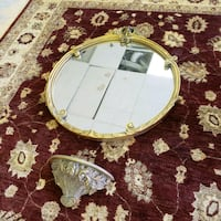 Bombay Gilded Mirror and Sconce  Kirkland, H9H 3C3