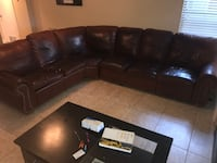 Leather sectional couch 813 mi