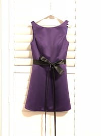 Royal Purple Satin Short Dress