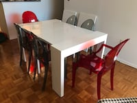 Collapsible/Expandable White Modern Dining Table Chevy Chase, 20814