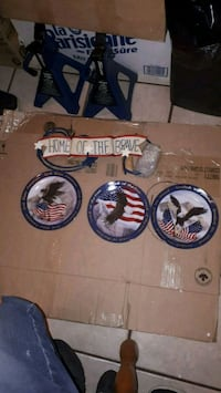 Home of the brave plate set