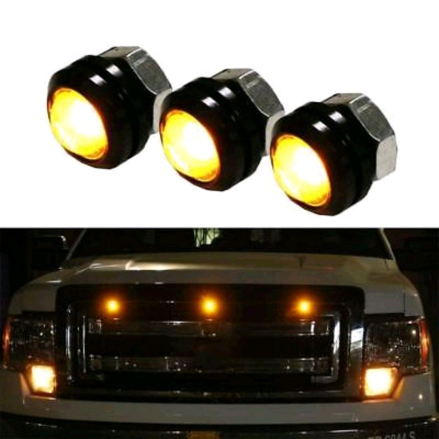 3X Ford SVT Raptor Style LED Amber Grille Lighting