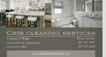 Cleaning services..