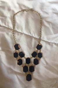 Navy & gold necklace