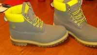Gray and lime green boots. Sumter, 29154