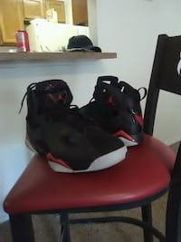 pair of red-and-black Air Jordan shoes San Antonio, 78232