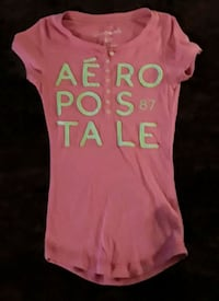 Pink and white Aeropostale crew neck Tee Marlette, 48453