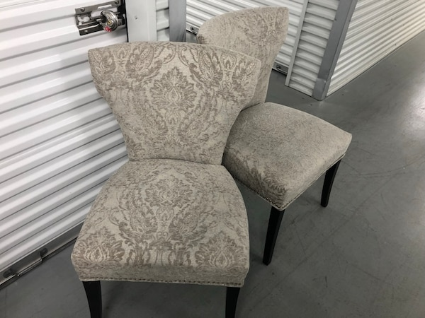 White Accent Chairs Used.Pair Of High Quality White Accent Chairs Used Once For Staging These Are Brand New