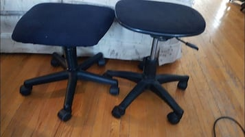 Lot of 2 Backless Office Chairs