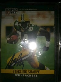 Signed sterling sharpe card in thr plastic  Mansfield, 44902
