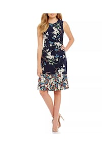 new Eliza J Floral Drop Waist Ruffle Hem Dress size 16 (pick up only) Alexandria, 22310