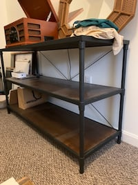 Iron and Wood Shelf/Stand