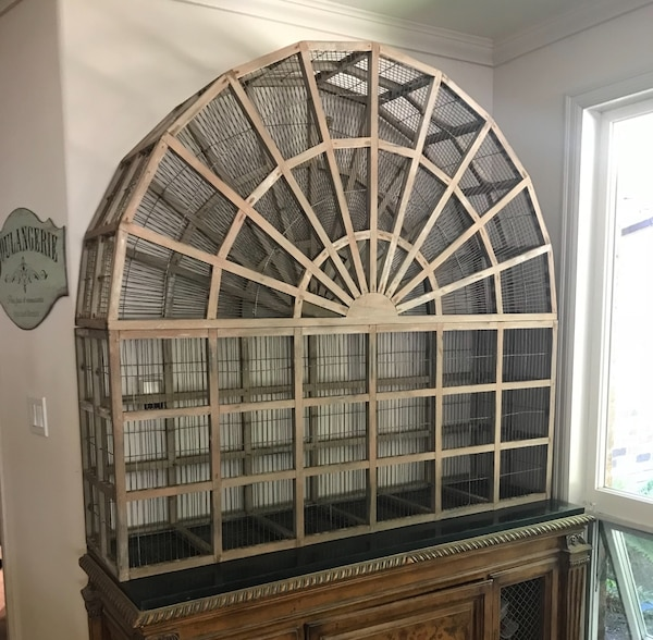 Pottery Barn large decorative bird cage