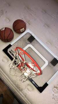 white and red basketball hoop Halifax, B2W 3X1