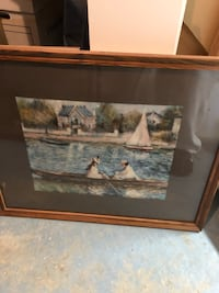 brown wooden framed painting of house Collegeville, 19426