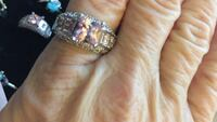 Stunning Pink Ice Ring in 925 Sterling Silver sz 10 Coleman, 76834