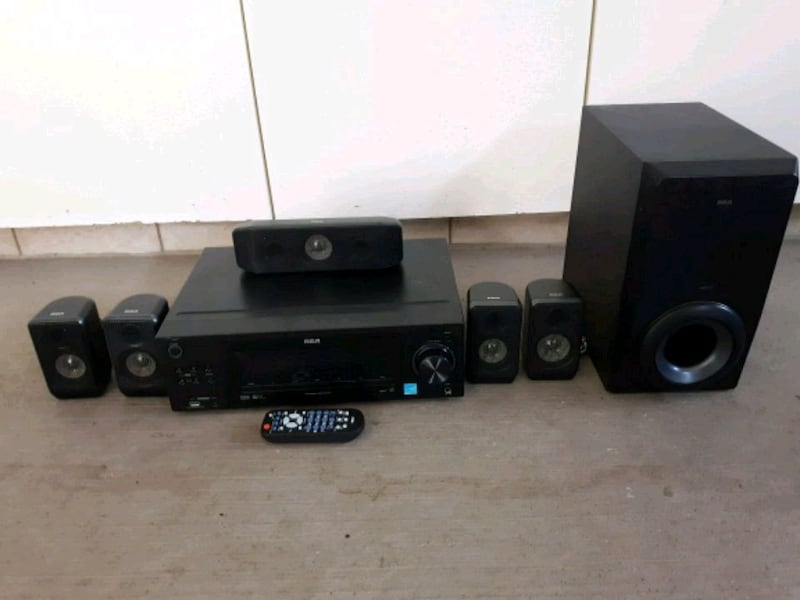 black and gray home theater system 4cacfd52-0e3b-4d8e-822a-79590b295cf6