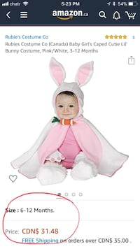 Halloween costume baby Mississauga, L4T 3A4
