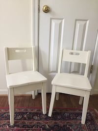 2 adorable schoolhouse chairs