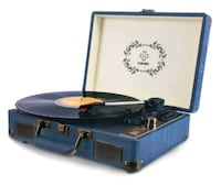 Record Player, LUKER Portable Suitcase Bluetooth Turntable for Vinyl R