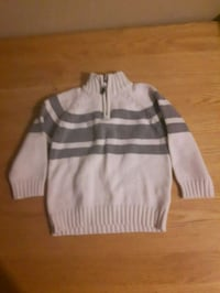 gray and white striped pullover hoodie Brantford, N3S 4B5