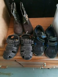 three pairs of black leather shoes 655 mi