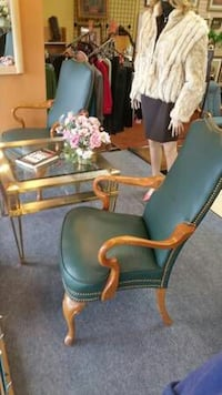 2 nice leather accent chairs Watervliet, 49098