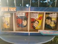 Set of 4 collectible Star Trek pint glasses