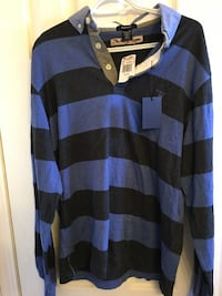 purple and black striped sweater Calgary, T2Y 3R6