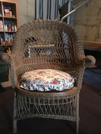 Antique wicker chair.   Small rip in seat.  About 150 years old Calgary, T2N 3T9