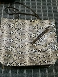 Brown and gray floral area rug