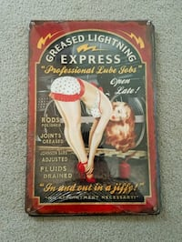Train express pinup pin up girl steel metal sign Portland, 97217